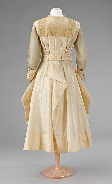 Evening dress (back view) Date: 1915–17 Culture: American Medium: silk Accession Number: 2009.300.2443