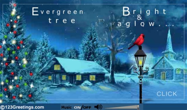 Christmas Ecards for Free: Love 'N Joy On Christmas by 123 Greetings