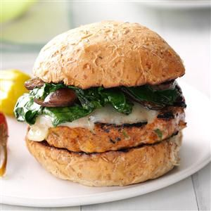 Taste of Home (June/July 2015): Grilled Italian Turkey Burgers - These turkey burgers are awesome at a cookout, especially if you're trying to eat healthy. Try topping them with a little marinara or steak sauce.