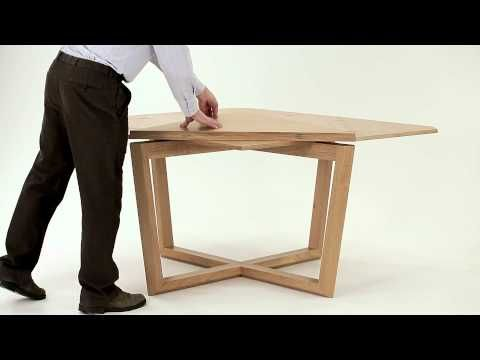 SEER table in oak - amazing expanding table - YouTube