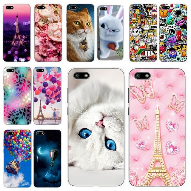 Silicone Cover For 5.45Huawei y5 2018 Printing Cute Cases For ...