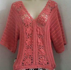 SpazioCrochet: Blusa de crochê charmosa