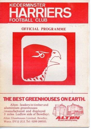 Away vs Kidderminster Harriers ,  Kings Lynn FC , 1979 , Southern League