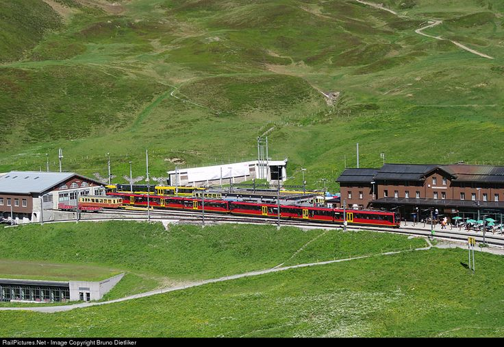 Unknown Jungfraubahn Bhe 4/8 at Bern, Switzerland by Bruno Dietliker