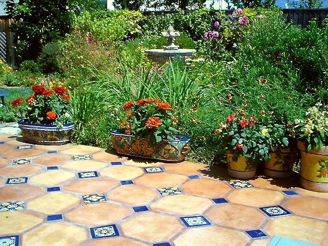 Saltillo Tile Does Well On Your Outdoor Patio Or Garden Walkway, Too!