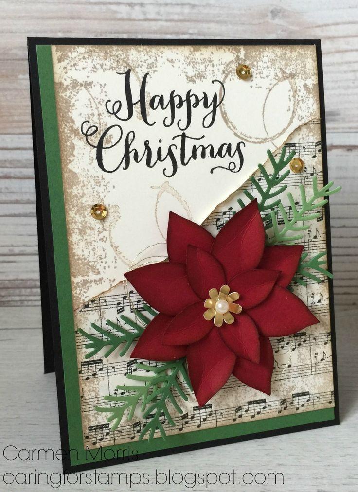 1053 best CARDS-Christmas-Poinsettias images on Pinterest ...