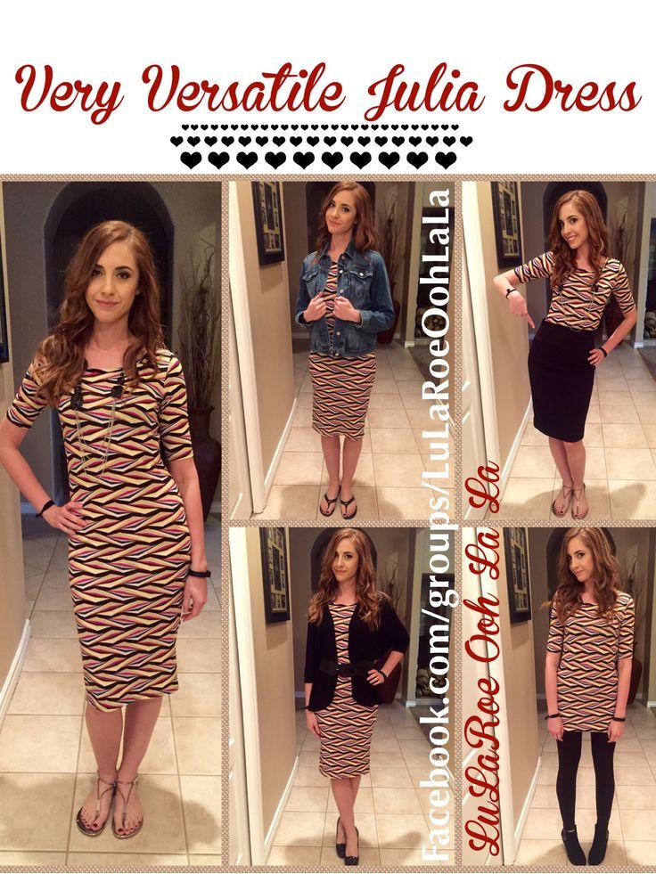 Very versatile Julia!! #ootd #lularoe #juliadress #style #fashion #lularoeoohlala Facebook.com/groups/LuLaRoeOohLaLa