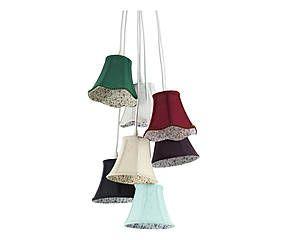 Lampadario in tessuto Bells - 50x120 cm