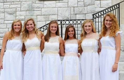 White heirloom dresses for high school graduation! Check out the article with designer, Tracie Setzer!