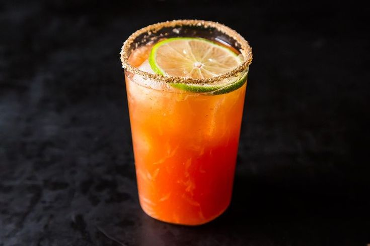 Michelada (aka Bloody Beer). If you love beer.....and you love Bloody Mary's. ..viola. .the Bloody Beer :-)