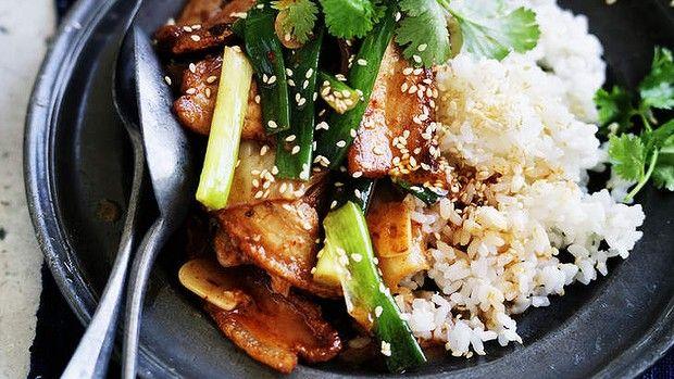 Neil Perry's stir-fried pork with kimchi.