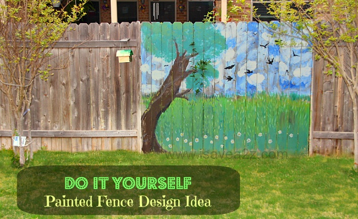 Painted fence ideas backyard fence decorating design for Told in a garden designs