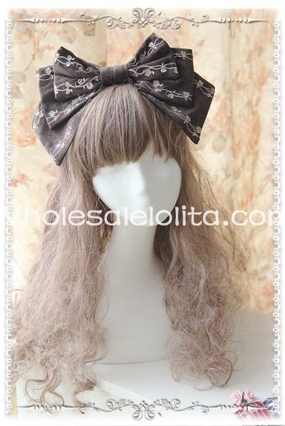 >> Click to Buy << Brown Cinderella Lolita HeadBow Luxury Embroidery KC Head Wear #Affiliate