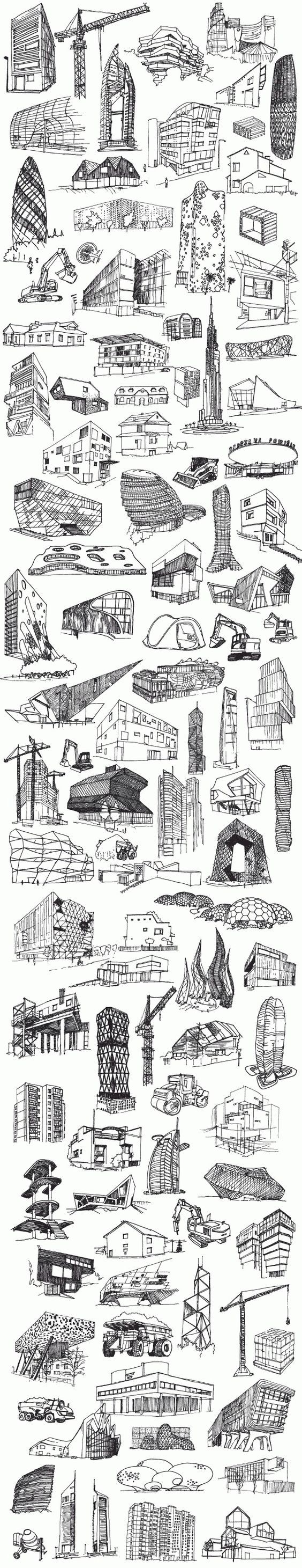 Drawing skycrapers: