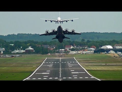 Airbus A400M Head-On Takeoff & Aerobatic Moves. - YouTube