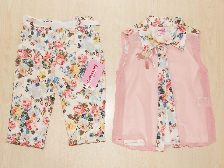 Nellino Çiçek Kaprili Kız Takım - Ecrin Çocuk & İç Giyim
