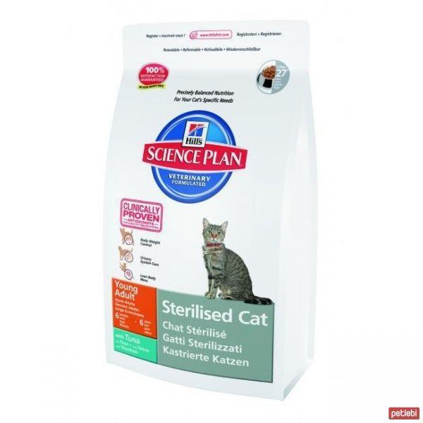 Hill's Young Adult Sterilised Kısırlaştırılmış Ton Balıklı Yetişkin Kedi Maması 1,5 Kg