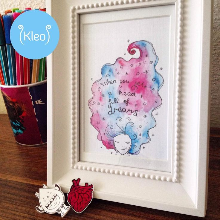 "'A head full of dreams' illüstrasyon kleo.sopsy.com'da✨""Everything you want is a dream away""✏️ #kleodesign #handmade #handcrafted #handdrawing #drawing #illustrasyon #cizim #suluboya #cerceve #framed #artwork #artoftheday #crafty #aheadfullofdreams #ahfod #coldplay #inspiration #creative #makersgonnamake #motivasyon #motivation #qutoes #artsy #dream #dreambig #watercolor #stabilo #ikea #söndrum #illustration"