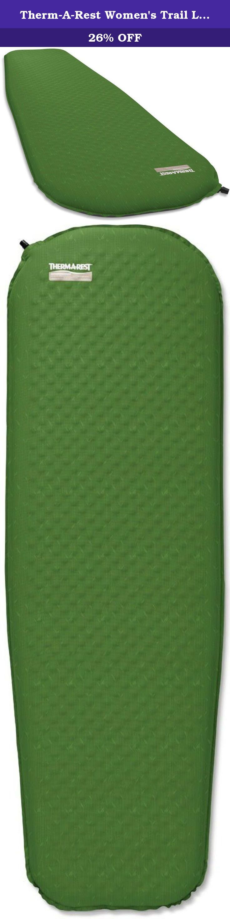 Therm-A-Rest Women's Trail Lite Mattress, Clover Print, Large. Like the original Trail Lite mattress, the Women's version offers an outstanding combination of comfort, compactness and value making it one of the best all-around camping mattresses available. Specifically for women and cold sleepers, fewer die-cuts in the hip, torso and foot areas add critical warmth and support. Die-cut foams elsewhere reduce weight and bulk and a new, straighter torso increases the sleep area and makes for...