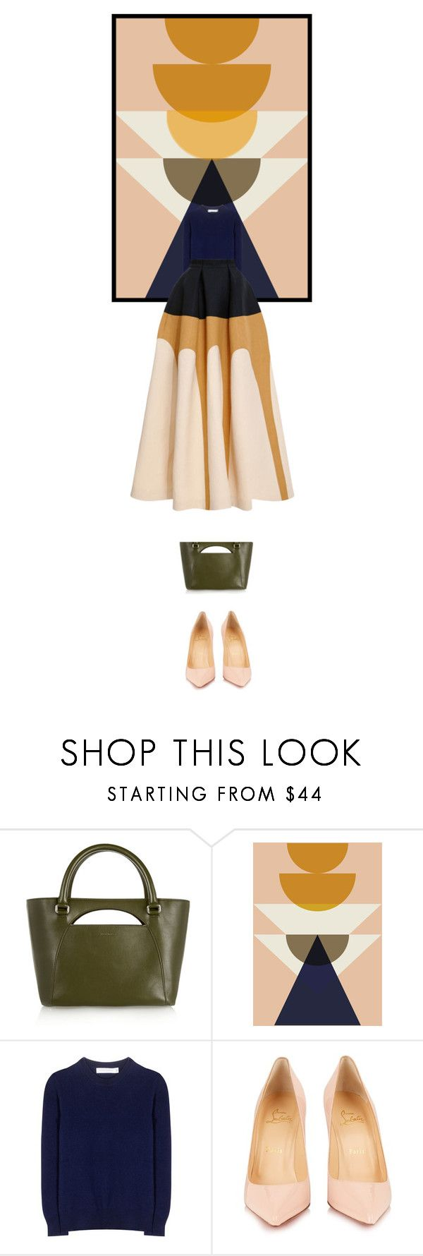 """""""Cascade"""" by mirary ❤ liked on Polyvore featuring J.W. Anderson, ferm LIVING, Victoria Beckham, Christian Louboutin and Delpozo"""