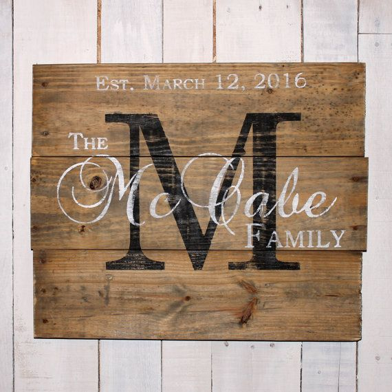 This hand painted wood custom, personalized name sign would make a beautiful addition to your home decor, on your porch or deck, as a