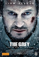 "In ""The Grey,"" Liam Neeson leads an unruly group of oil-rig roughnecks when their plane crashes into the remote Alaskan wilderness. Battling mortal injuries and merciless weather, the survivors have only a few days to escape the icy elements and a vicious pack of rogue wolves on the hunt before their time runs out."