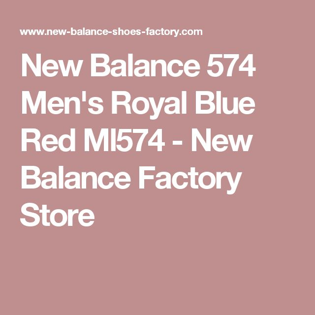 New Balance 574 Men's Royal Blue Red Ml574 - New Balance Factory Store