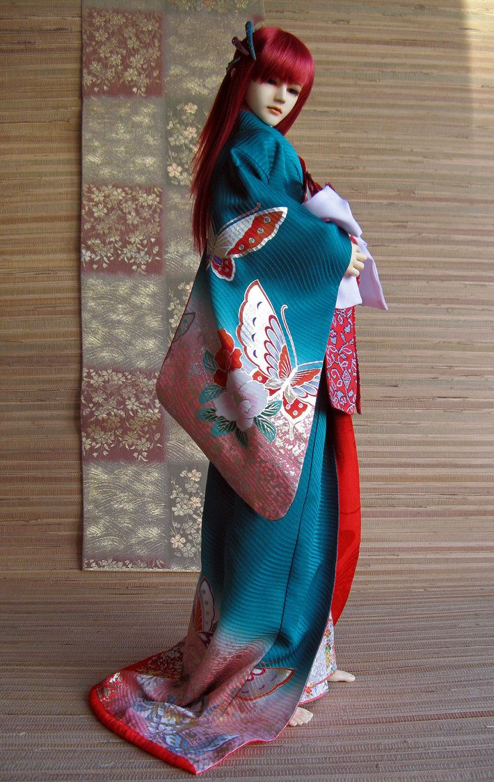 BJD kimono, Cho-Cho-San by InarisansCrafts