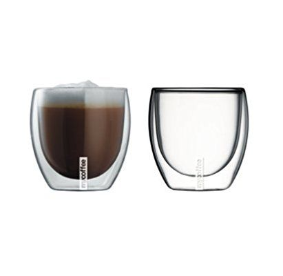 MyCoffee Double Walled Themo Coffee Glasses Set - 230ml
