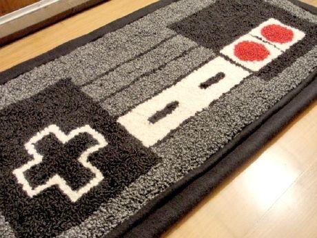 Nes nintendo controller rug game room pinterest Controller rug