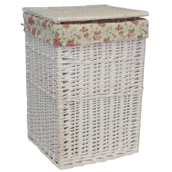 You Ll Love The Square Wicker Laundry Basket With Garden Rose