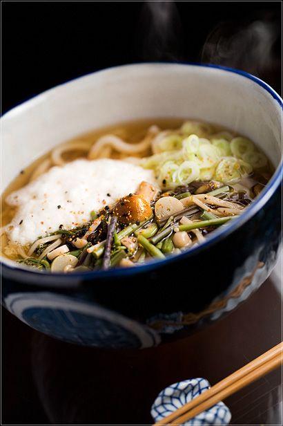 Japanese food / 山菜とろろうどん Tororo Udon