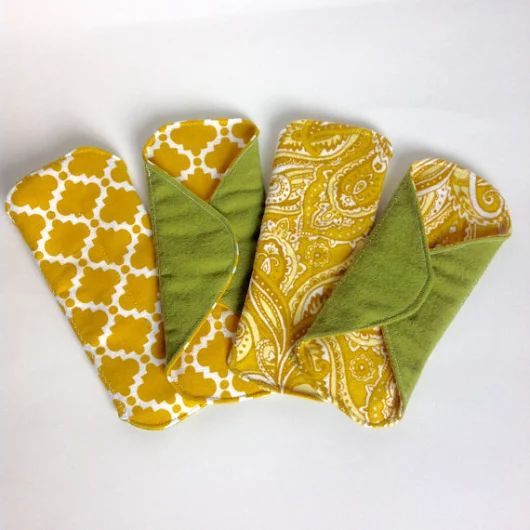Set of 4  7 Panty Liners Flannel Cloth Pad Mama Pad by MamaMelonCA