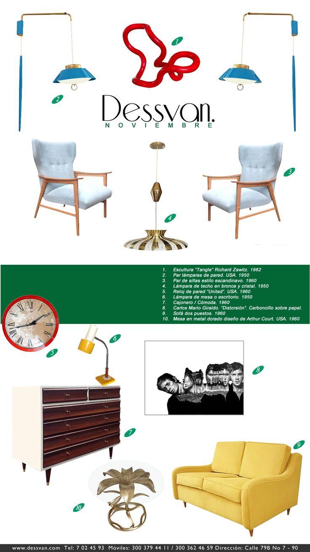 Boletin Noviembre 2014 November Newsletter 2014 www.dessvan.com #dessvan #vintagebogota #bogota #colombia #mueblesbogota #mobiliariobogota #calledelosanticuarios #lamparas #lamparasbogota #antiguedadesbogota #designbogota #midcenturybogota #sofa #mesa #comedor #lampara #aplique #silla #sillas#newsletter #furniture