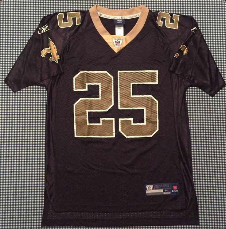 ee17ebe8619 ... Equipment New Orleans Saints 25 Reggie Bush Black Reggie Bush New  Orleans Saints Replica Jersey Size Medium Black Reebok NFL USC .