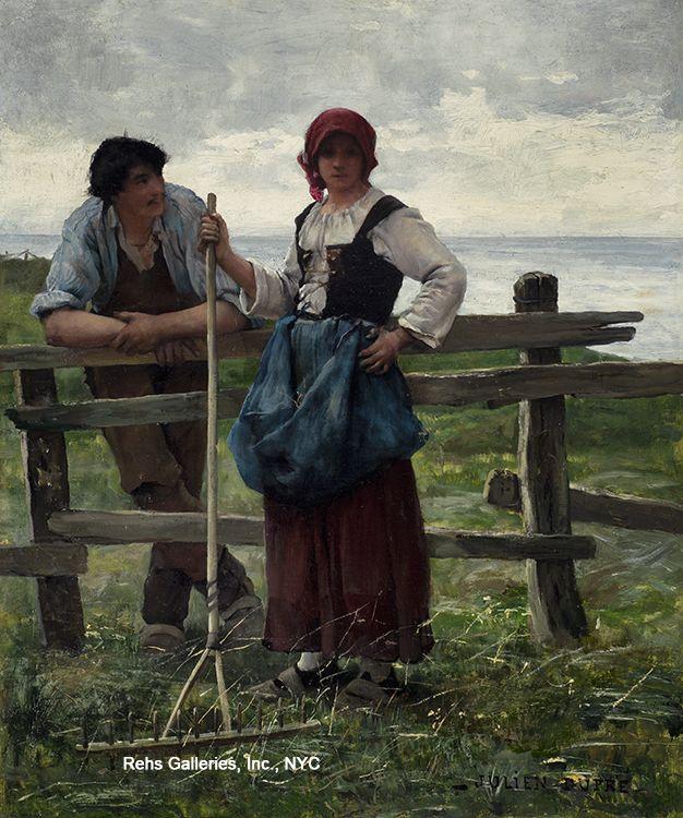 Julien Dupré (1851 - 1910) Deux amoureux
