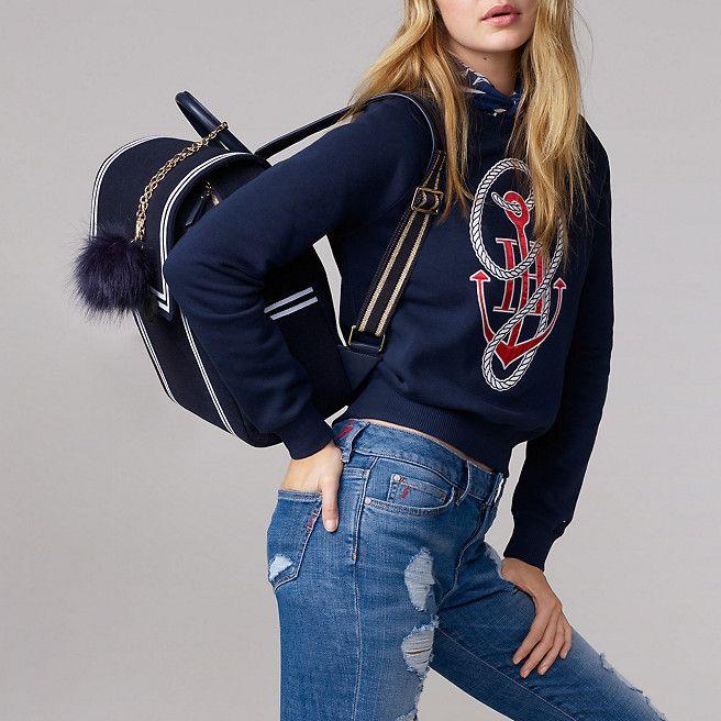 Tommy Hilfiger Nautical Backpack Gigi Hadid - navy felt - Tommy Hilfiger Backpacks - detail image 4