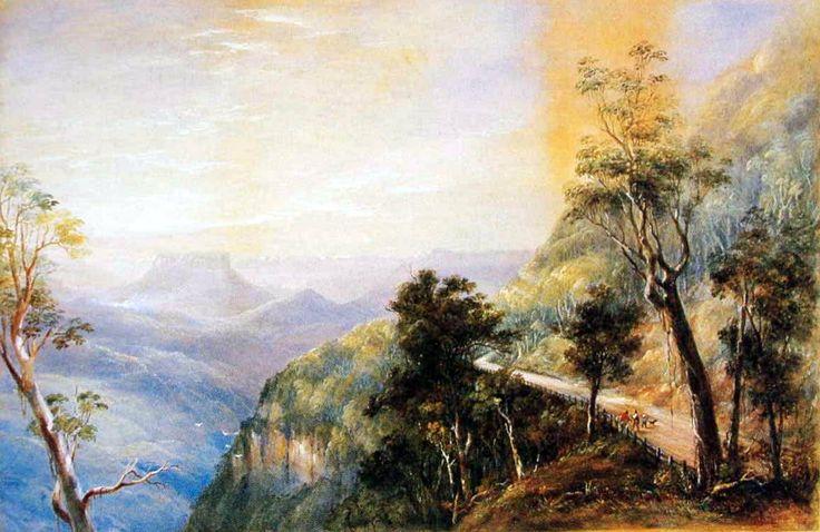 Crown Ridge in Capertee Valley by Conrad Martens 1874