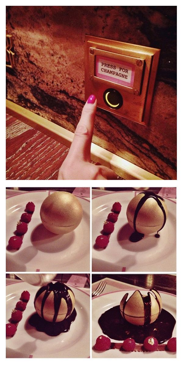 Go to Bob Bob Ricard and press the champagne button – our favourite ever button!