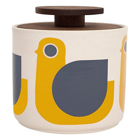 Buy Orla Kiely Hen Storage Jar, 1L Online at johnlewis.com
