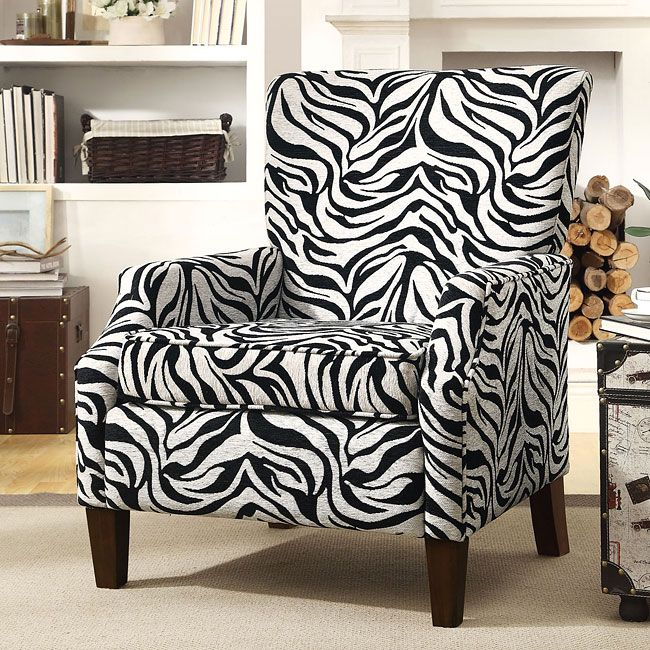 Live+on+the+wild+side+with+this+Zebra+Print+Accent+Chair ...