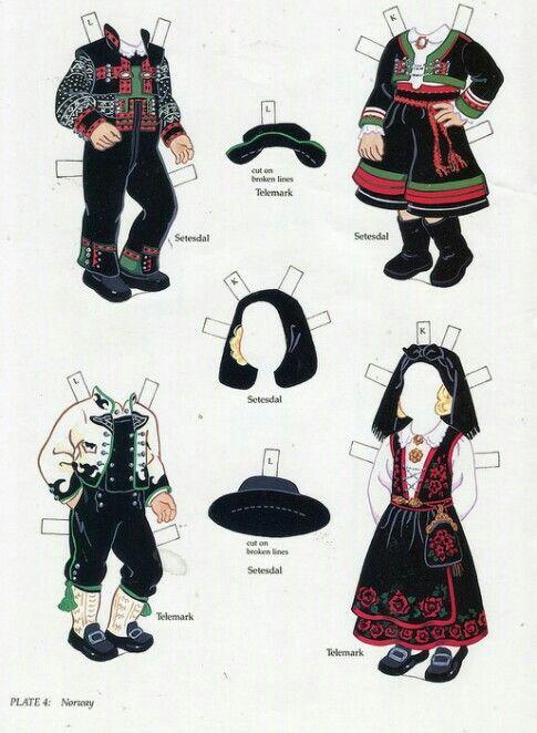 Scandinavian paper dolls