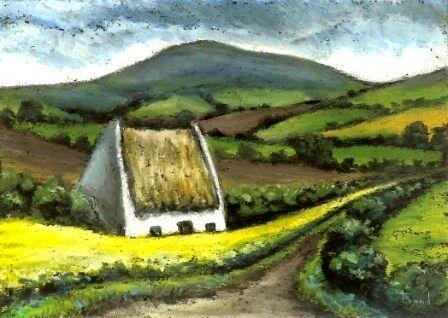Caratteristico cottage  5 x 7 stampa di un dipinto originale