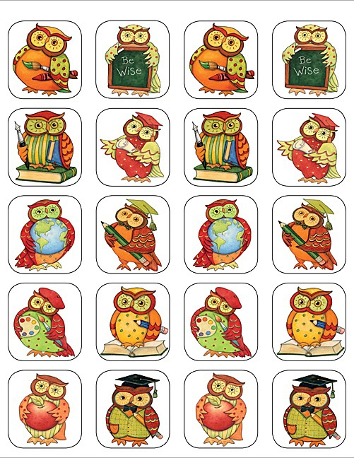 Wijze Uil Stickers. 120 Stickers voor €3,99 bij allemaalstickersenzo.nl