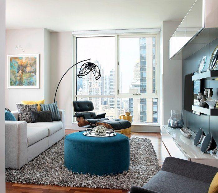 Einrichtungsideen Für Wohnzimmer-moderne Standleuchte Aus