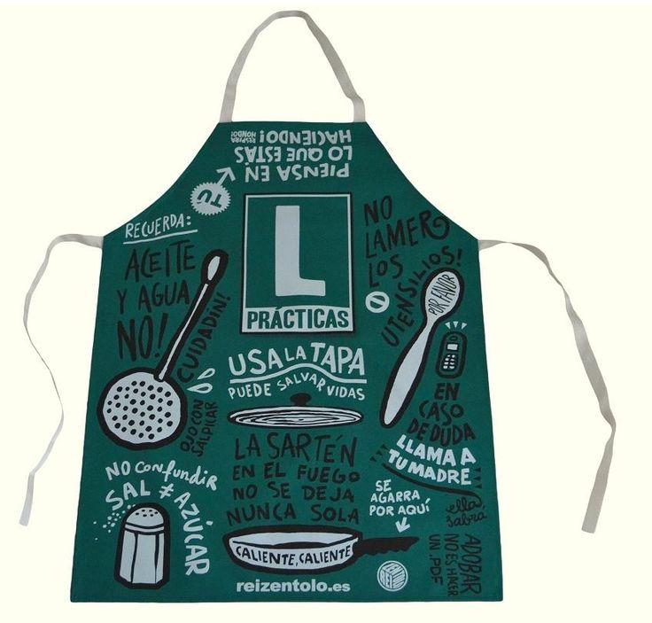 Cuidado! Cocinero en prácticas #delantaloriginal #delantalesparahombre