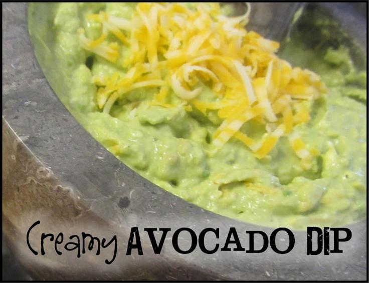 Creamy Avocado Dip   Dips, Dressings and Sauces   Pinterest