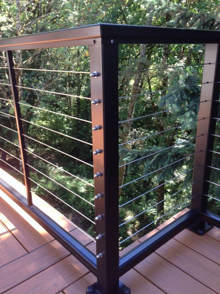 Best 25+ Cable railing ideas on Pinterest   Steel stair ...