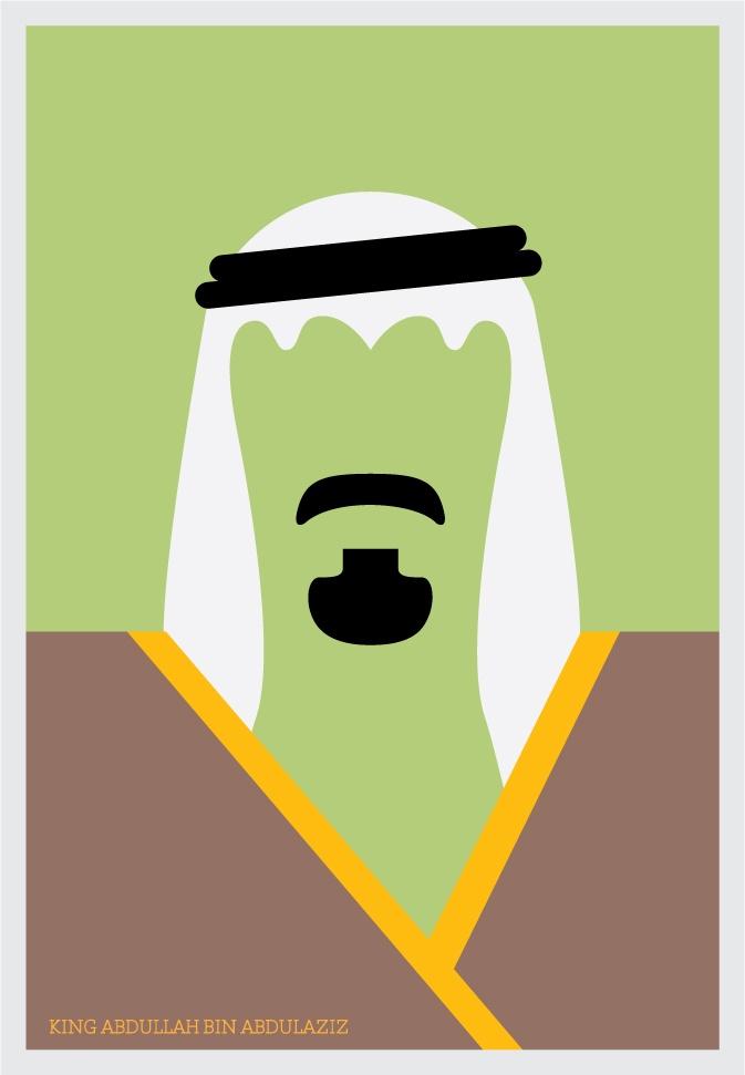 King Abdullah Abdelaziz (Ali Al Sumayin) #Arabic #minimalist #Dubai