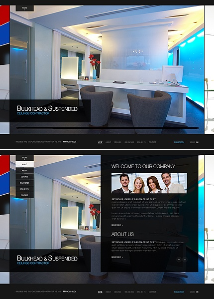 Modern Interior Website Theme